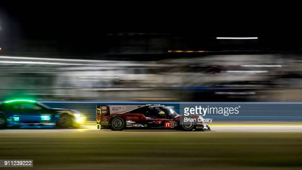 The ORECA LMP2 of HoPin Tung of China Alex Brundle of Great Britain Ferdinand HabsburgLothringen of Austria Antonio Felix da Costa of Portugal races...