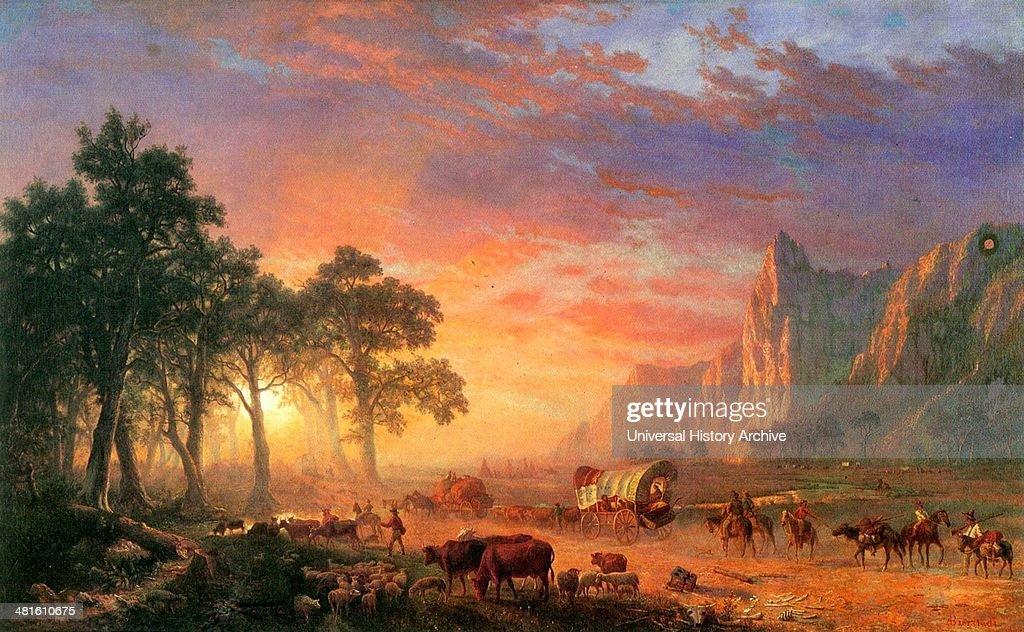 The Oregon Trail by Albert Bierstadt 1869 A.D. : News Photo