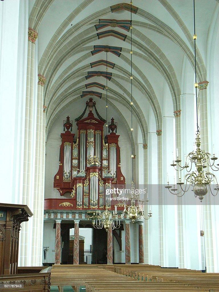 The organ in St. James' church (Jacobikerk) : Stockfoto