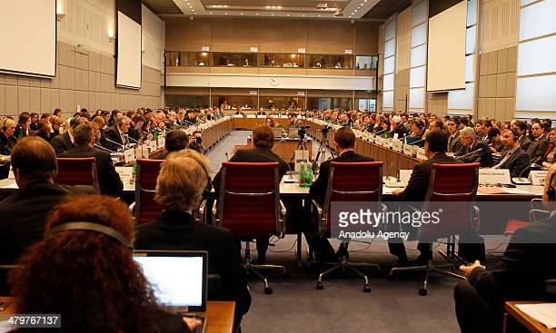 The Organization for Security and Cooperation in Europe Permanent Council meeting is held on 20 March 2014 in Vienna Austria The Acting Foreign...