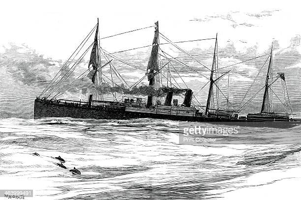 The Orient Steam Navigation Company's steamship Orient c1880 A print from Great Industries of Great Britain Volume I published by Cassell Petter and...
