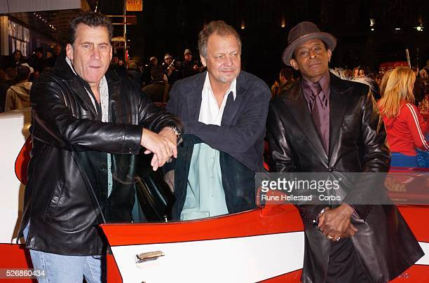 The original actors from the television series Paul Michael Glaser David Soul and Antonio Fargas attend the premiere of Starsky and Hutch at...