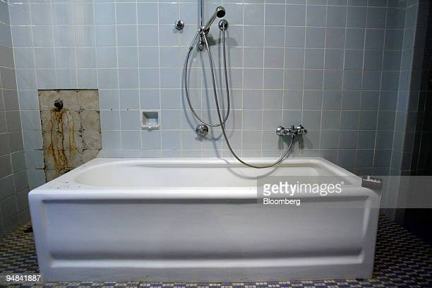 The original bathtub formerly belonging to Josef Goebbels Nazi Germany's propaganda minister sits at Villa Waldhof am Bogensee his former wartime...
