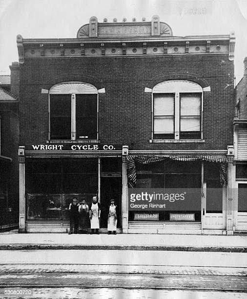 The original bike shop which Orville and Wilbur Wright used as a laboratory Gliders airplane parts and miniature wind tunnels were made and tested...