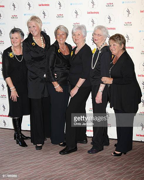 The original Calendar Girls of Rylstone WI Christine Clancy Tricia Stewart Angela Baker Lynda Logan Beryl Bamforth and Ros Fawcett attend the Women...