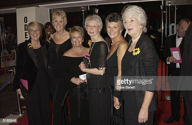 The original Calender Girls attend the UK premiere of Calender Girls at the Odeon Leicester Square London on September 3rd 2003