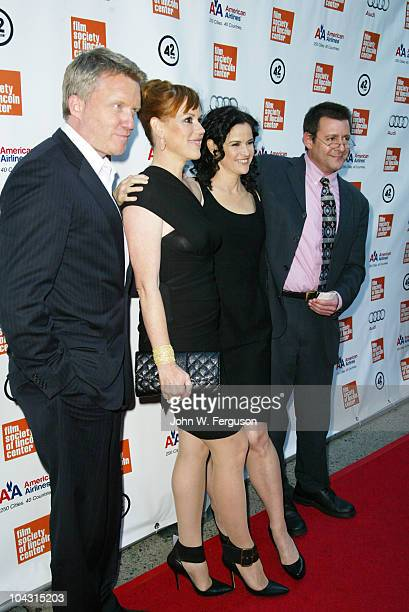 The original cast of The Breakfast Club Anthony Nichael Hall Molly Ringwald Ally Sheedy and Judd Nelson attend the Film Society of Lincoln Center's...