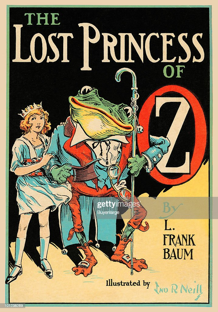 The original cover to L. Frank Baum's book 'The Lost Princess' drawn by John R. Neill