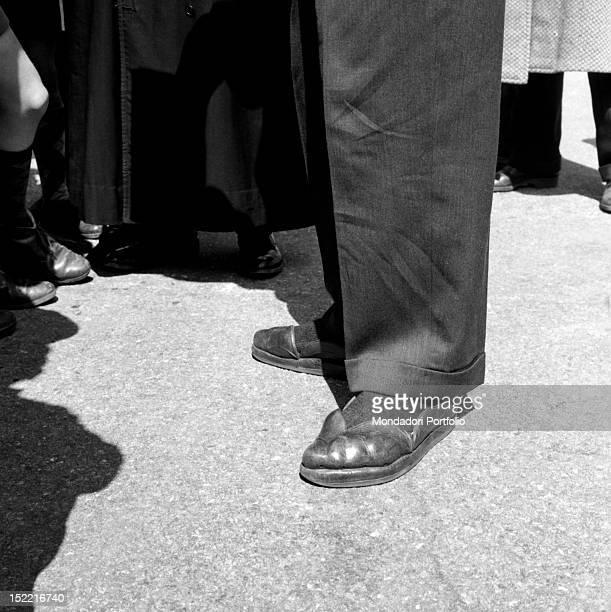 The original footwears of the US actor Danny Kaye Italy 1956