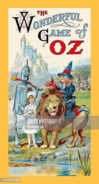 The original game board to accompany the Wizard of Oz books written by L Frank Baum featuring all the lands and characters