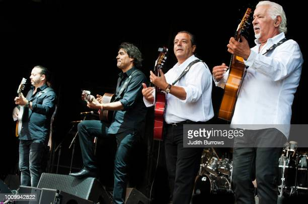 The Original Gypsies Of Camargue featuring former members of The Gipsy Kings perform on stage at the Womad Festival 2018 at Charlton Park on July 27...