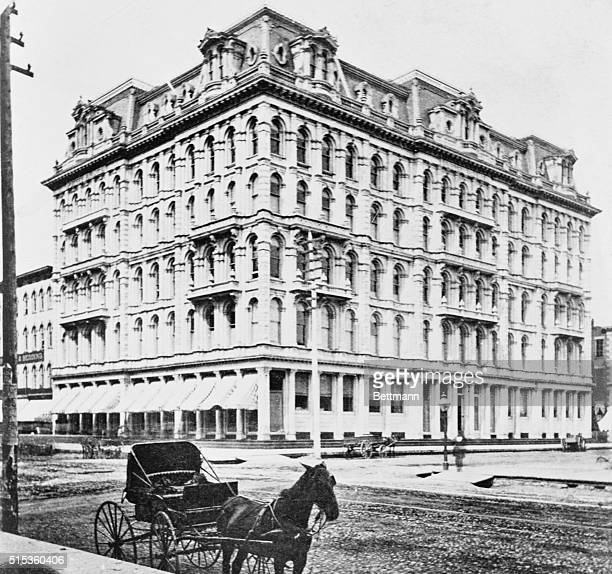 The original Marshall Field Department Store building built by Potter Palmer in 1868 for the Field Leiter and Co at the corner of State and...