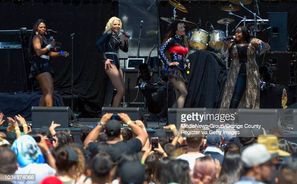 The Original Mary Jane Girls perform their hits at the Summertime in the LBC concert at the Queen Mary in Long Beach on Saturday August 5 2017 Over a...