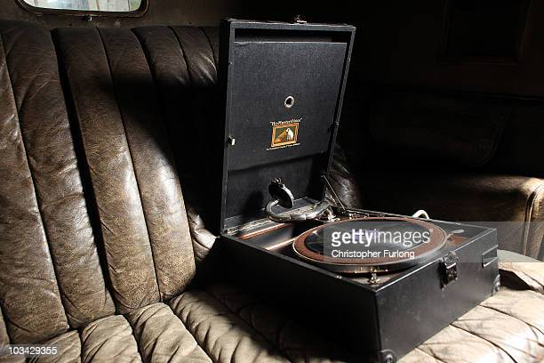 The original original gramophone sits on the back seat of a 1932 Humber owned by Edward and Wallis Simpson as it awaits restoration by potato...