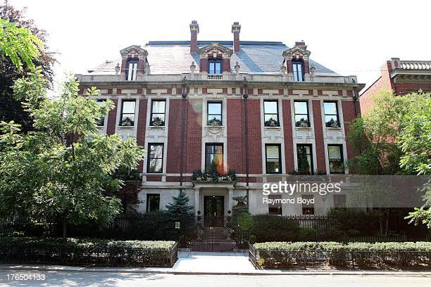 The original Playboy Mansion in Chicago's Gold Coast in Chicago Illinois on JULY 21 2013