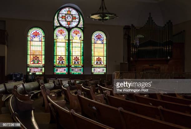The original sanctuary of the Douglas Memorial United Methodist Church near the H Street Corridor in Washington DC March 7th 2018 The chapel is...