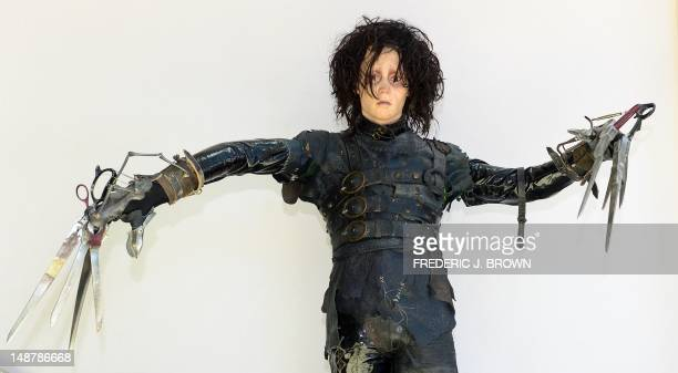 The original screenused costume worn by Johnny Depp in the film Edward Scissorhands on display at Profiles In History in Calabasas northwest of...