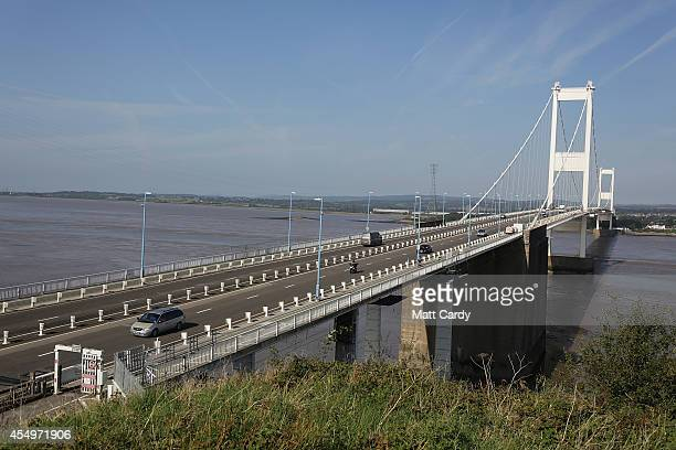 The original Severn Bridge is seen on September 8 2014 in Chepstow Wales