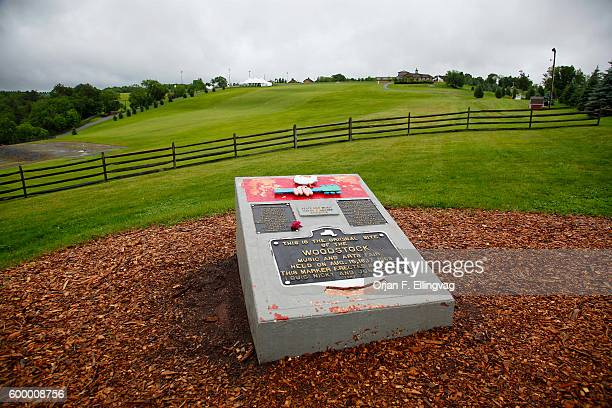 The original Woodstock Festival site at Bethel Woods with a site marker in Woodstock New York The 40th Anniversary of the Woodstock Festival is in...