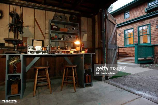 The original work bench of Hewlett-Packard founders Bill Hewlett and Dave Packard sits in a garage behind their former home where the company first...