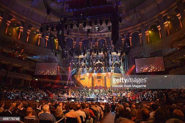 The Orion Symphony Orchestra performing live on stage at the Royal Albert Hall during the Celebrating Jon Lord live music event in London on April 4...