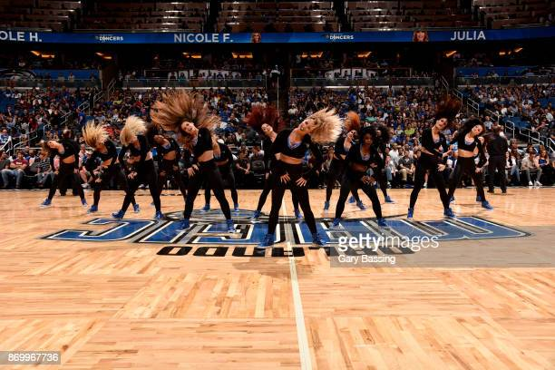 the Orlando Magic dance team performs during the game against the Chicago Bulls on November 3 2017 at Amway Center in Orlando Florida NOTE TO USER...