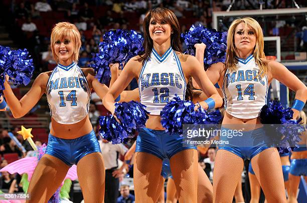 The Orlando Magic Dancers perform during the game against the Washington Wizards on November 8 2008 at Amway Arena in Orlando Florida NOTE TO USER...
