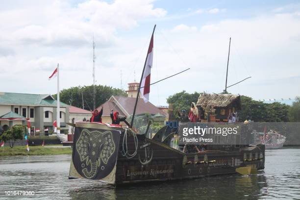 ACEH BANDA ACEH ACEH INDONESIA The ornamental boat parade enlivened the Aceh Kreung festival This event was made to welcome the Aceh Cultural Week...
