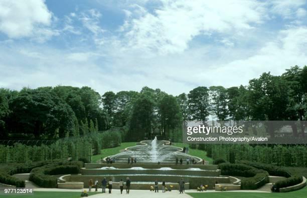 The ornamental gardens at Alnwick. May 2003, United Kingdom.