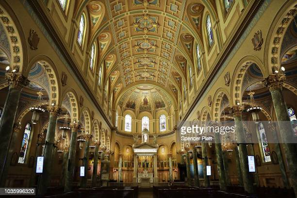 The ornate CoCathedral of St Joseph Catholic church stands in Brooklyn on September 19 2018 in New York City In a further blow to the Catholic Church...