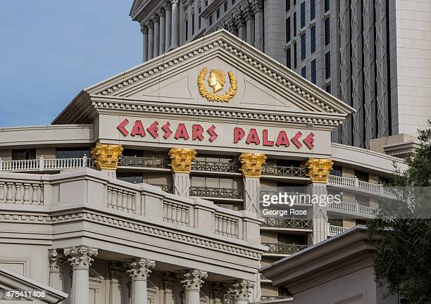 The ornate exterior of Caesars Palace is viewed on May 19 2015 in Las Vegas Nevada Tourism in America's Sin City has within the past year made a...
