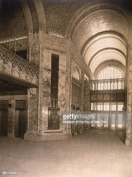The ornate lobby of the Woolworth Building designed by Cass Gilbert and completed in 1913 The 792ft construction remained the city's tallest building...
