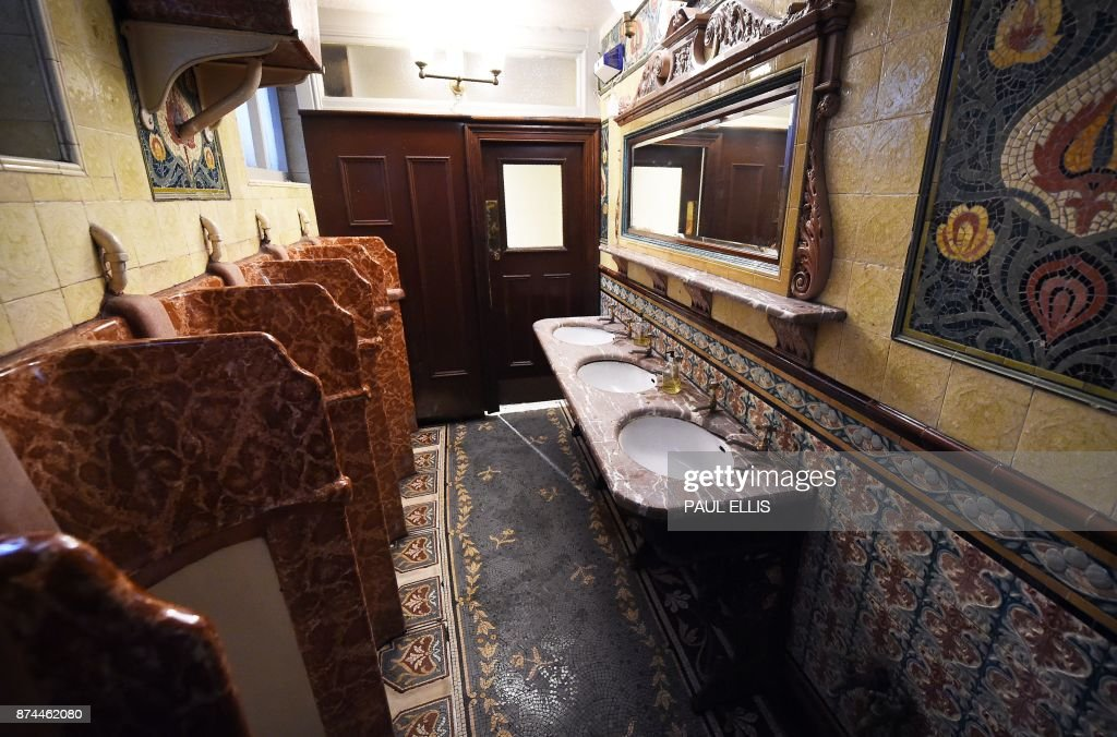 The ornate men s toilets in the Philharmonic Dining Rooms in Liverpool   north west England on. The ornate men s toilets in the Philharmonic Dining Rooms in