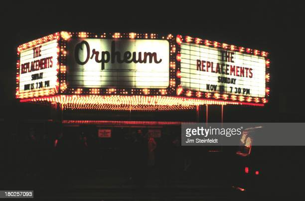 The Orpheum Theatre in Minneapolis Minnesota features The Replacements in 1988