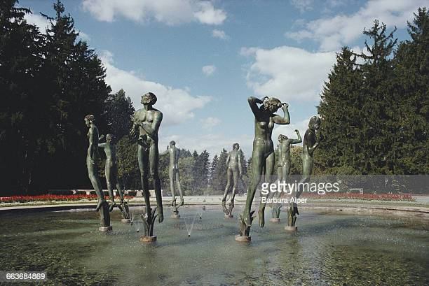 The Orpheus Fountain by Carl Milles at the Cranbrook Educational Community in Bloomfield Hills, Michigan, October 1988.