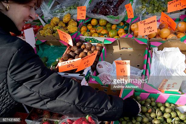 The Orthodox Jewish festival of Tu Bishvat is celebrated as the New Year of trees with a symbolic eating of different varieties of fruit Here in a...