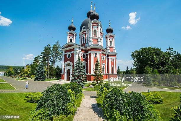 the orthodox monastery of curchi, moldova - moldova stock pictures, royalty-free photos & images