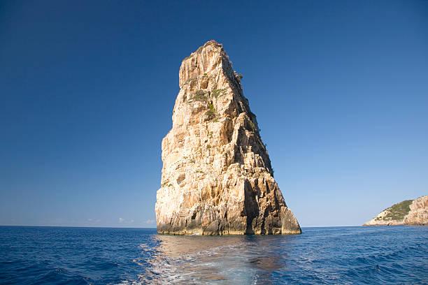 The Ortholithos rock, Paxos, Greece