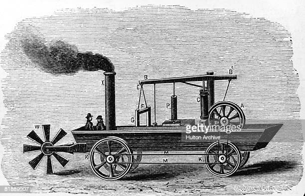The Oruktor Amphibolos a steampowered dredge built by American inventor Oliver Evans of Philadelphia in 1804 for use in the city's dockyards