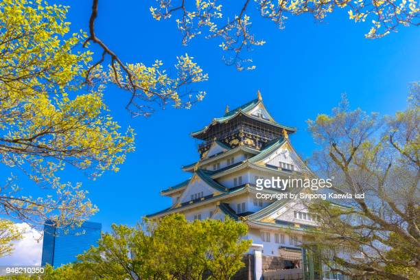 The Osaka Castle in a beautiful day, Japan.