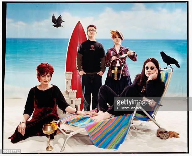Sharon Osbourne, Jack Osbourne, Kelly Osbourne and Ozzy Osbourne) are photographed for Blender Magazine in 2002 in Los Angeles, California.