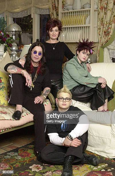 The Osbournes Ozzy Sharon Jack and Kelly are shown in this undated photo MTV officials said March 4 2002 that Ozzy Osbourne the heavy metal rock star...