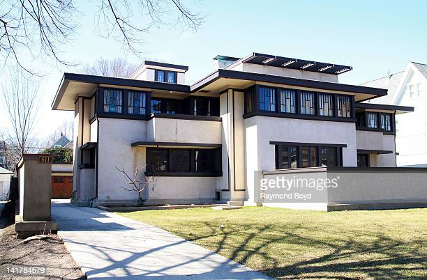 The Oscar B. Balch House, built in 1911 and designed by famed architect, Frank Lloyd Wright in Oak Park, Illinois on MARCH 10, 2012.