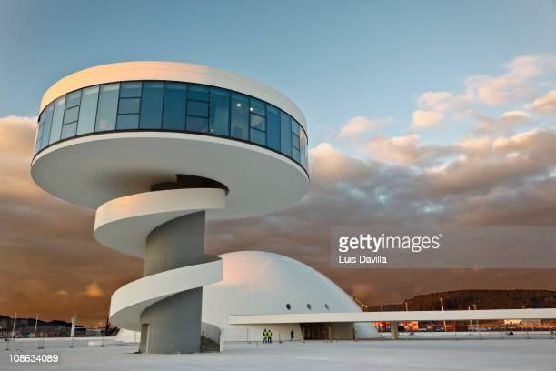 The Oscar Niemeyer International Cultural Centre in Aviles Spain 20th January 2011