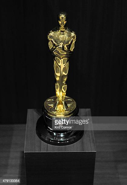 The Oscar Statuette is on display during the grand opening of National Museum Of American History's Innovation Wing at the National Museum Of...
