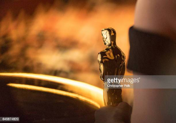 The Oscar statuette is seen backstage during the 89th Annual Academy Awards at Hollywood Highland Center on February 26 2017 in Hollywood California