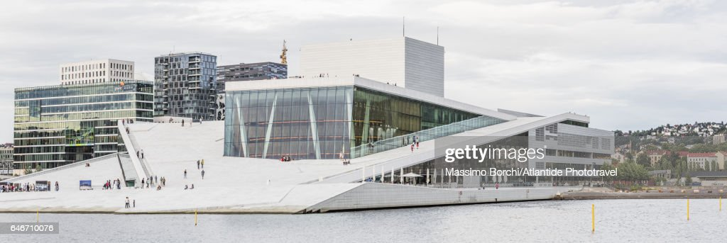 The Oslo Opera House (Operahuset), Snøhetta architects : Stockfoto