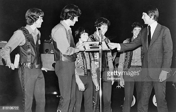 """The Osmond Brothers, whose recording of """"One Bad Apple"""" has been first on the record charts for the past five weeks, and just passed the 2 million..."""