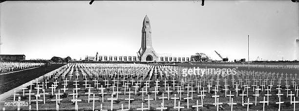 The ossuary of Douaumont Meuse and the cemetery