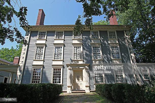 The other facade of the main mansion of the Royall House and Slave Quarters a historic house and museum in Medford It was built in 1732 and owned by...